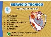 instalacion de aires acondicionados y mantenimiento. electricista