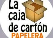 Papelera la caja de carton