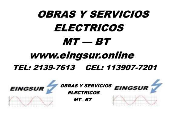 Obras y servicios electricos de media tension y baja tension