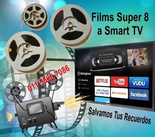 Films super 8mm digital a smart tv