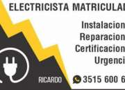 ELECRICISTA MATRICULADO CAT 3